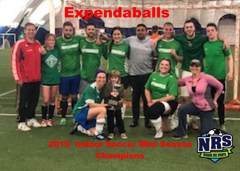 2019 Indoor Soccer Mini Season Champions Expendaballs
