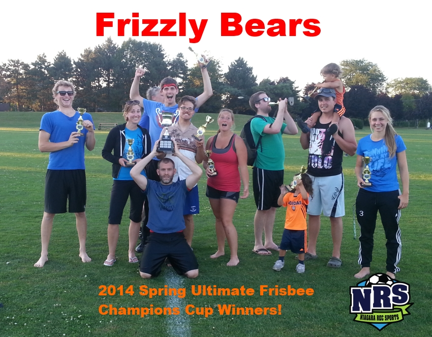 Frizzly Bears 2014 Spring Ultmate Champs
