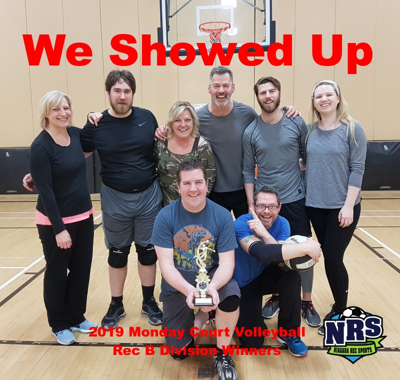 NRS 2019 Monday Court Volleyball Rec B Division Winners We Showed Up