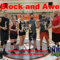 NRS 2019 Monday Court Volleyball Champions Cup Winners Block and Awe