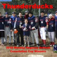 NRS 2018 Monday Regency Softball Consolation Cup Winners
