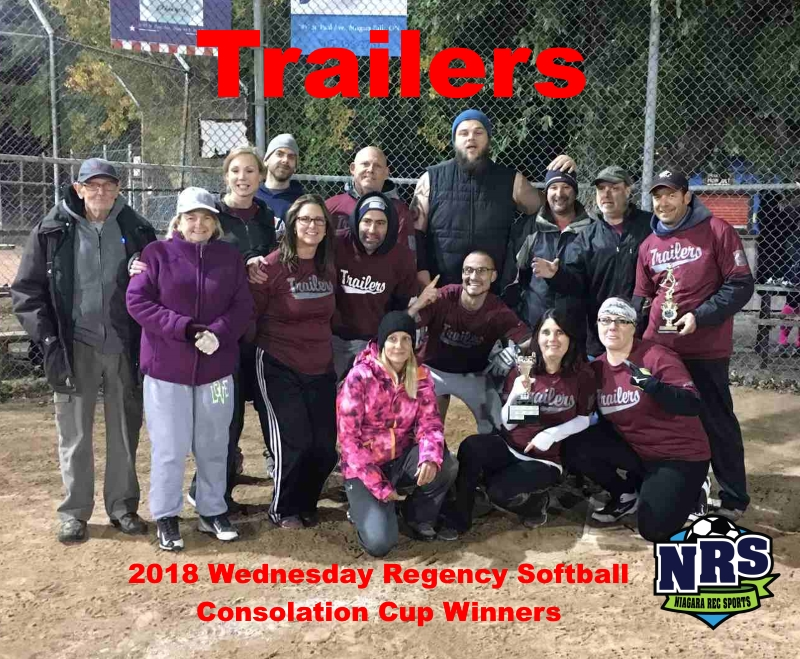 NRS 2018 Wednesday Regency Softball Consolation Cup Winners Trailers